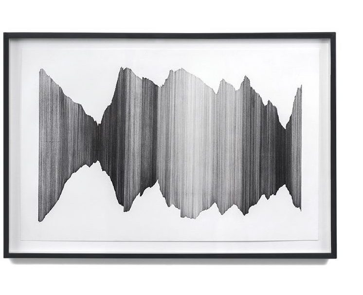 China Adams, A Certain Period of Time 9, 2012, graphite on paper, 13 x 19 inches framed
