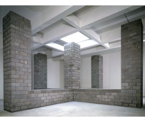 Concrete Block Structure (Five Vertical Columns)