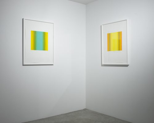 Selected Artworks, Blue-Green Yellow Green (left), Yellow Orange Ochre (right)