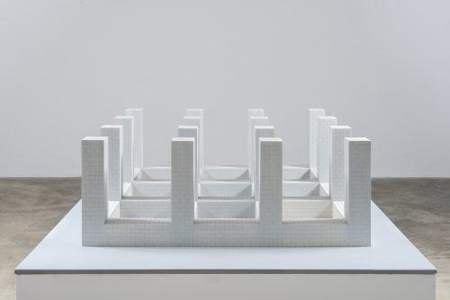 Maquette for Concrete Block Structure (Sixteen Vertical Columns)